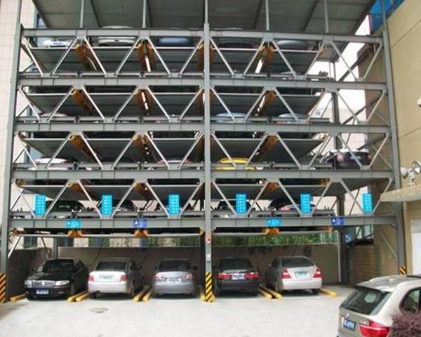 钢结构立体车库施工